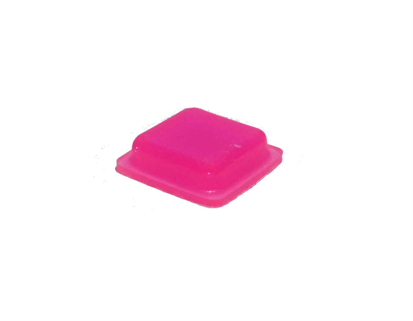 Pink Tactile Markers, Bright Coloured Self Adhesive Feet For Blind & Partially Sighted 10mm x 2.5mm (Pack of 10)