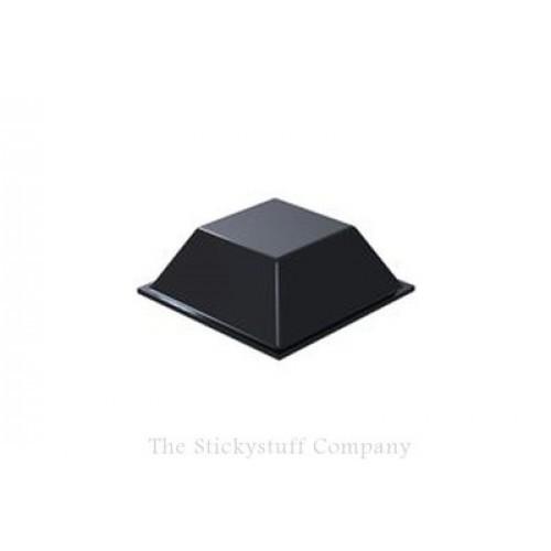 Black Polyurethane Self Adhesive Bumper Stops Feet Bumpons 20.5 x 7.5mm Square (Pack of 840)