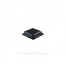 Black Self Adhesive Polyurethane Bumper Stops Feet Bumpons 10mm x 2.5mm Square (Pack of 1,000)