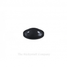 Black Round Domed Self Adhesive Door Bumper Stops Coaster Feet, 6.4 x 1.9mm (Pack of 25)