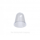 Clear Self Adhesive Polyurethane Bumper Stops Feet Bumpons 16.6mm x 16.6mm Hemispherical (Pack of 100)