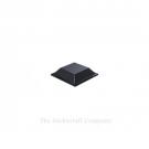 Black Self Adhesive Polyurethane Bumper Stops Feet Bumpons 12.7mm x 3.1mm Square (Pack of 80)